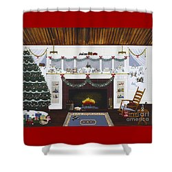 Our First Holiday Shower Curtain
