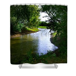 Shower Curtain featuring the photograph Our Fishing Hole by Peter Piatt