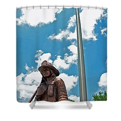 Shower Curtain featuring the photograph Our Heroes by Charlotte Schafer