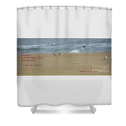 Our Journey  Shower Curtain by Robin Coaker
