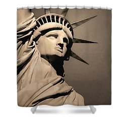 Our Lady Liberty Shower Curtain by Dyle   Warren