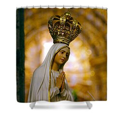 Our Lady Of Fatima Shower Curtain by Gaspar Avila