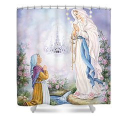 Our Lady Of Lourdes Shower Curtain