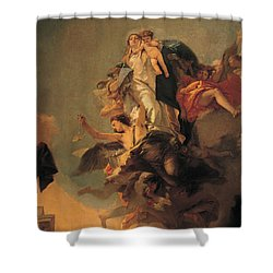 Our Lady Of Mount Carmel  Shower Curtain by Tiepolo Giambattista