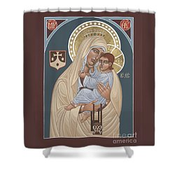 Shower Curtain featuring the painting Our Lady Of Mt. Carmel 255 by William Hart McNichols