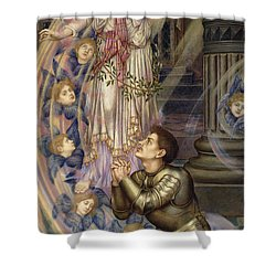 Our Lady Of Peace Shower Curtain by Evelyn De Morgan