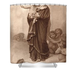 Our Lady Of The Angels Shower Curtain