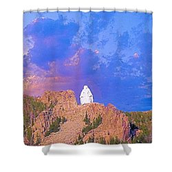 Shower Curtain featuring the photograph Our Lady Of The Rockies by Janette Boyd