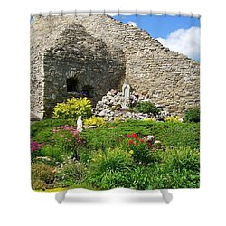 Our Lady Of The Woods Shrine Ll Shower Curtain