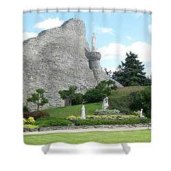 Our Lady Of The Woods Shrine Shower Curtain
