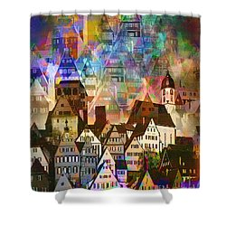 Our Old Town Shower Curtain