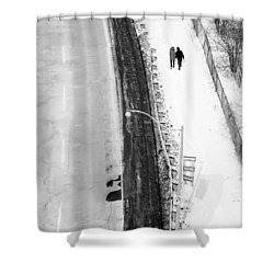 Our Way Shower Curtain by Valentino Visentini