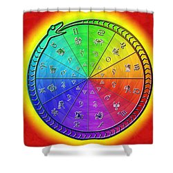 Ouroboros Alchemical Zodiac Shower Curtain