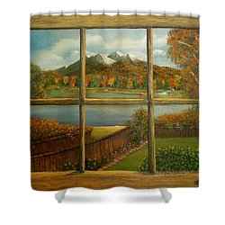 Out My Window-autumn Day Shower Curtain by Sheri Keith