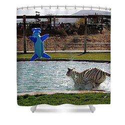 Out Of Africa Tiger Splash 3 Shower Curtain