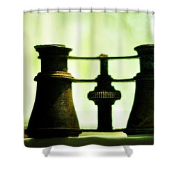 Out Of Sight Shower Curtain by Rebecca Sherman