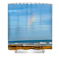 Out Of The Blue  Shower Curtain by Mary Ward