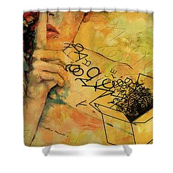 Out Of The Box Shower Curtain by Corporate Art Task Force