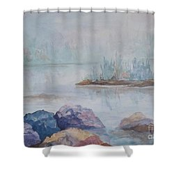 Out Of The Mist Shower Curtain by Ellen Levinson