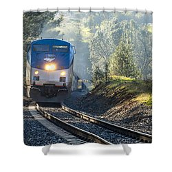 Out Of The Mist Shower Curtain by Jim Thompson