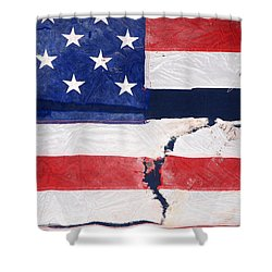 Shower Curtain featuring the photograph Out Of The Rubble  September 11 2001 by John Schneider