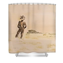 Shower Curtain featuring the painting Out There by Michele Myers