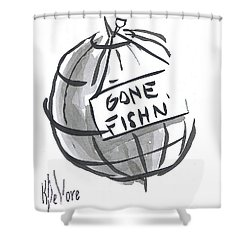 Out To Lunch Shower Curtain by Kip DeVore