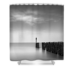 Out To Sea Shower Curtain by Dave Bowman