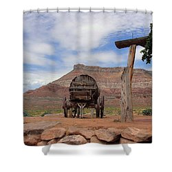 Out West Shower Curtain by Natalie Ortiz