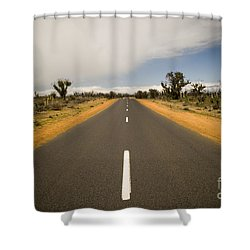 Outback Road Shower Curtain by Tim Hester