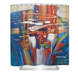 Outburst Shower Curtain