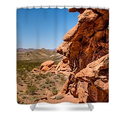 Shower Curtain featuring the photograph Outcrop - Valley Of Fire State Park by  Onyonet  Photo Studios