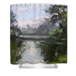 Outdoors At Hyde Park Shower Curtain by Ylli Haruni