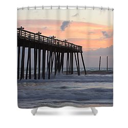 Outer Banks Sunrise Shower Curtain by Adam Romanowicz
