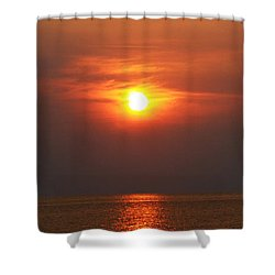Shower Curtain featuring the photograph Outer Banks Sunset by Tony Cooper