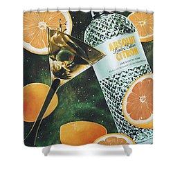 Outer Citron Shower Curtain