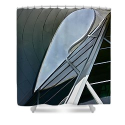 Outer Space Shower Curtain by Linda Bianic