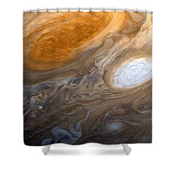 Outer Space Two Six Four Shower Curtain by Nasa Usgs