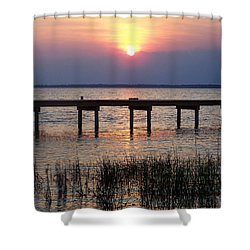 Shower Curtain featuring the photograph Outerbanks Nc Sunset by Sandi OReilly