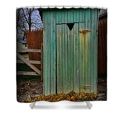 Outhouse - 6 Shower Curtain by Paul Ward