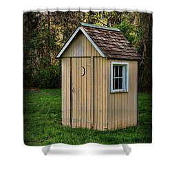 Outhouse - 8 Shower Curtain by Paul Ward