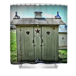 Outhouse - His And Hers Shower Curtain by Paul Ward