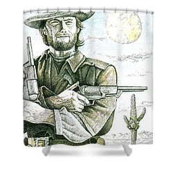 Outlaw Josey Wales Shower Curtain