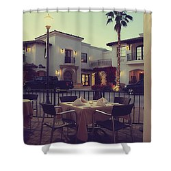 Outside Dining Shower Curtain by Laurie Search