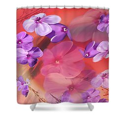 Shower Curtain featuring the painting Outside Inspirations by Janie Johnson