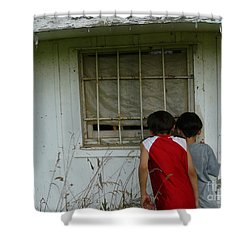 Shower Curtain featuring the photograph Outside Looking In by Jane Ford