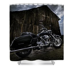 Outside The Barn Shower Curtain