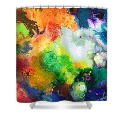 Outward Bound Shower Curtain by Sally Trace