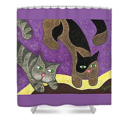 Over Cover Cats Shower Curtain