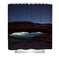 Shower Curtain featuring the photograph Over The Arch by David Andersen
